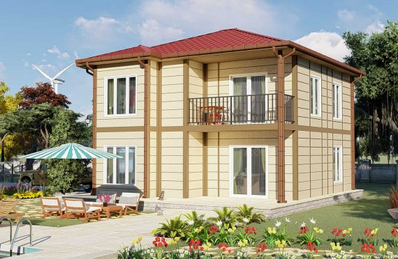 138 m2 Prefabrik Villa