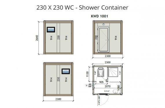 KW2 230X230 Tualet - Duş Konteyneri