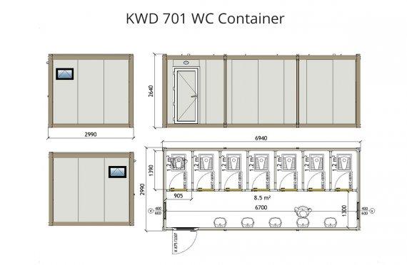 KWD 701 Konteyner