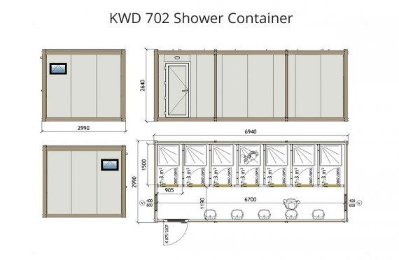 KWD 702 Duş Konteyneri