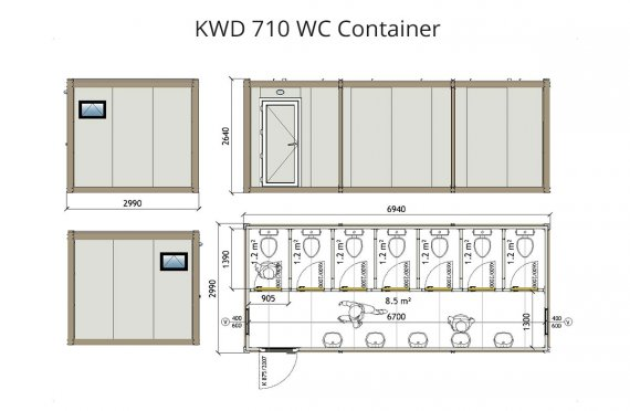 KWD 710 Tualet Konteyneri