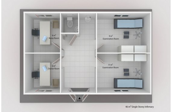 Modul Tibb Məntəqəsi 46 m²