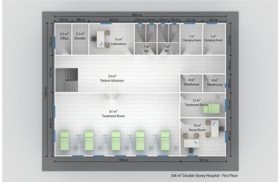 Modul Xəstəxana 506 m²