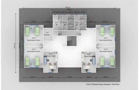 Modul Xəstəxana 576 m²