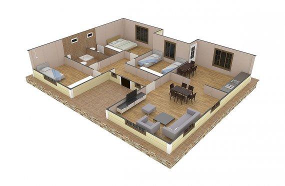 Prefabrik Ev 149 m²