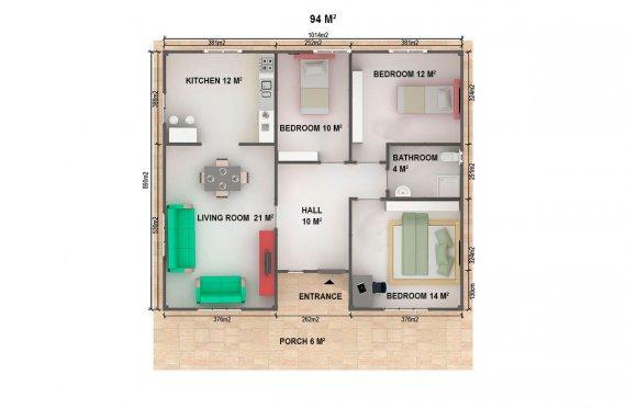 Prefabrik Ev 94 m²