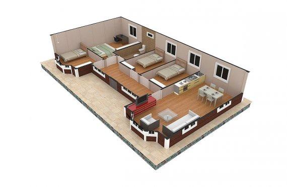 Prefabrik Ev 97 m²