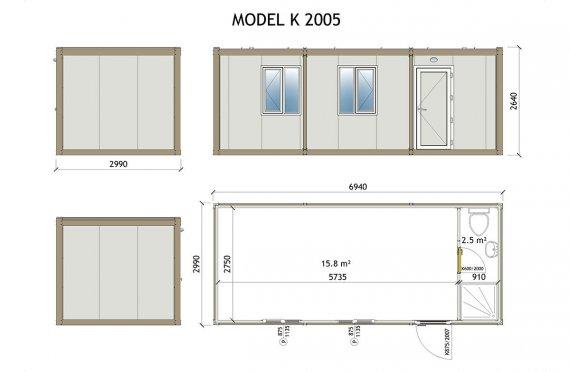 Vaqon kabini K 2005