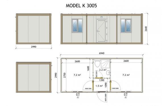 Vaqon kabini K 3005