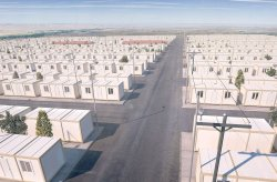 Suriyalı qaçqınlar üçün konteyner mənzili layihəsi
