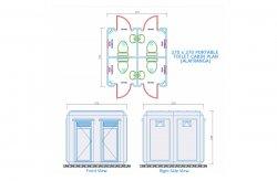 Tualet/Duş Kabinlərinin Planları